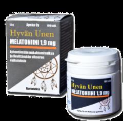 Hyvän unen Melatoniini 1,9 mg 100 tabl