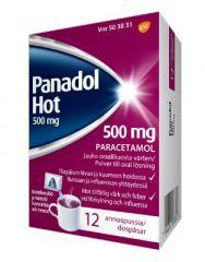 PANADOL HOT 500 mg/annos jauhe oraaliliuosta varten (annospussi)12 kpl